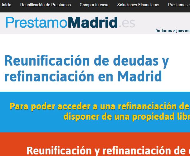 Rediseño y reparación de web para Préstamos en Madrid. SEO y posicionamiento.