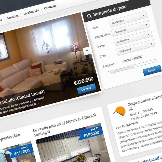 Dise O De P Gina Web Para Inmobiliaria Ideaweb Dise O
