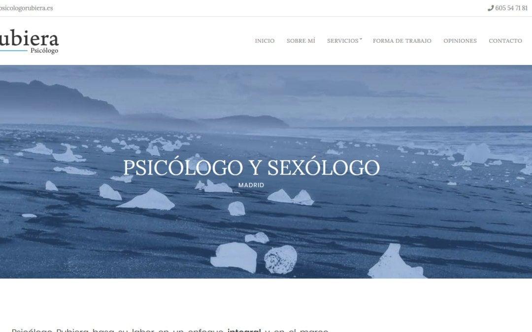 Diseño web sexólogo Madrid. Diseño de la pagina web para psicólogo sexólogo en Madrid.