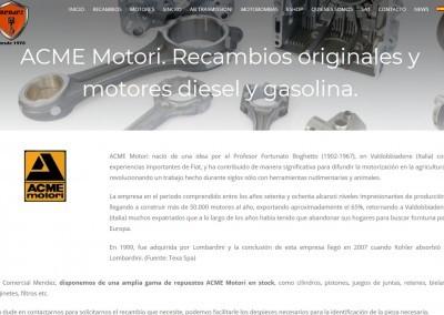 Pagina Web Recambios Maquinaria