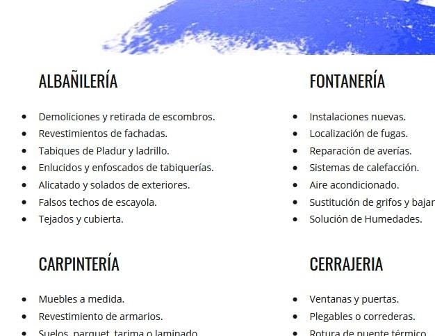 paginas reformas Madrid