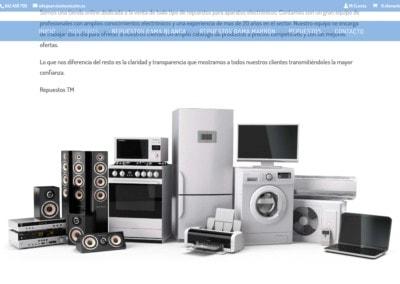 Pagina Web Repuestos Reparaciones