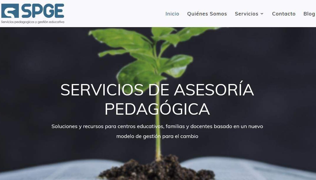 Diseño de página web para servicios pedagógicos, pedagogía escolar, colegios, docentes y orientación educativa.