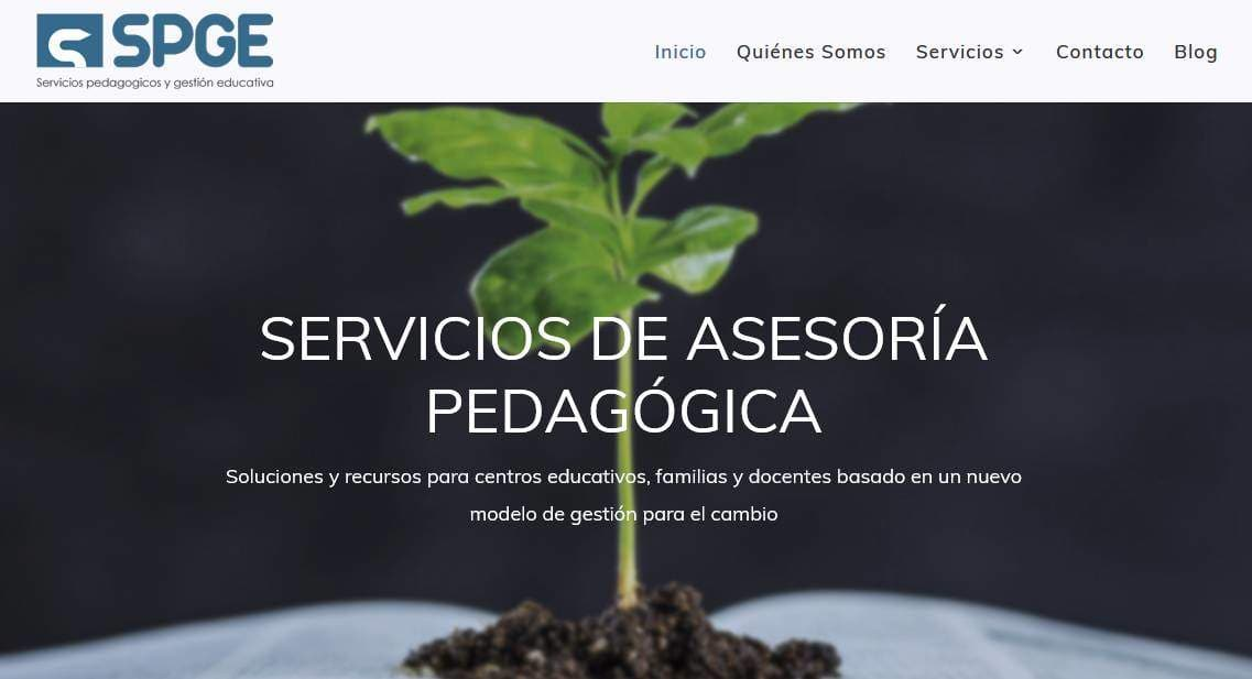 web para colegio