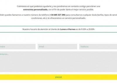 pagina web servicios sociales