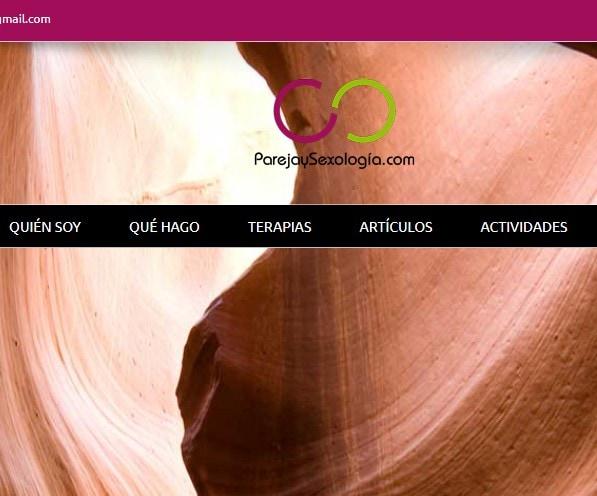 Diseño de página web para psicólogos sexólogos terapia de pareja ParejaySexología.com