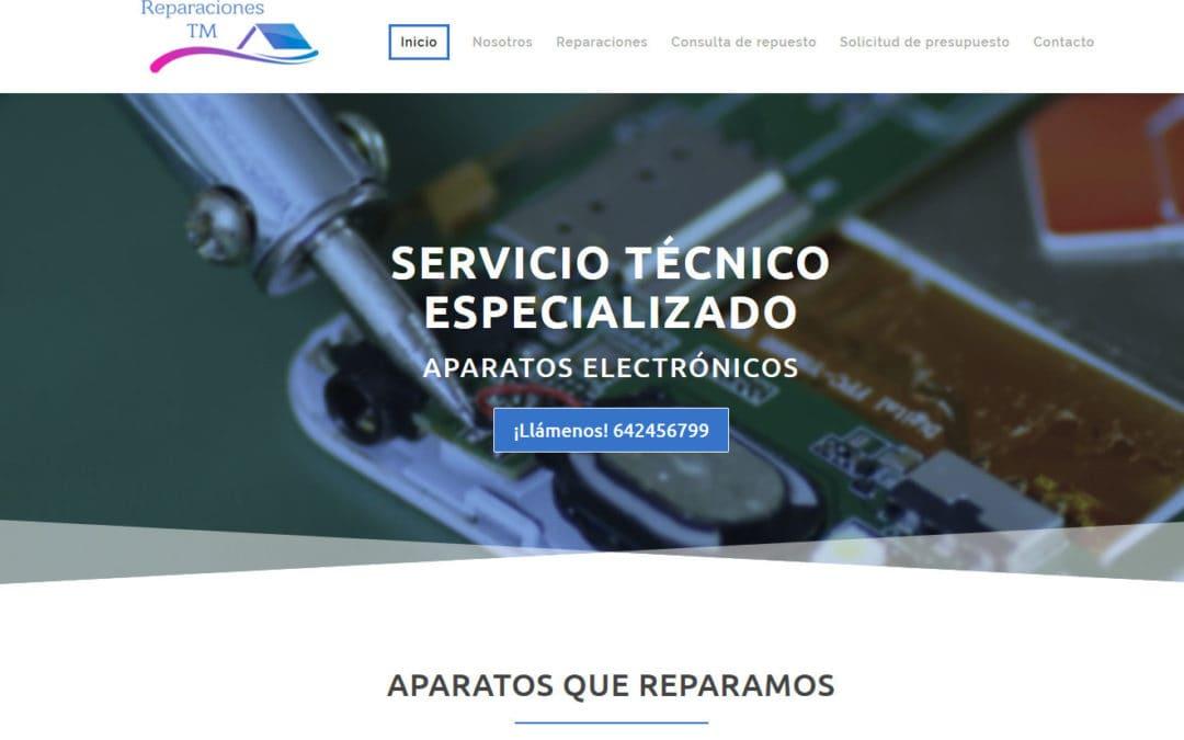 Diseño de pagina web para taller de reparaciones y servicio técnico talleres oficiales en Madrid