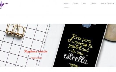Diseño de página web para tienda online de poesía y eventos