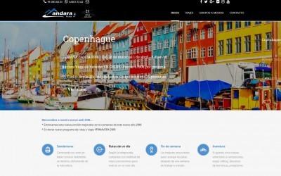 Diseño de páginas web para empresa de senderismo en Madrid, viajes, turismo, senderismo y vuelos.
