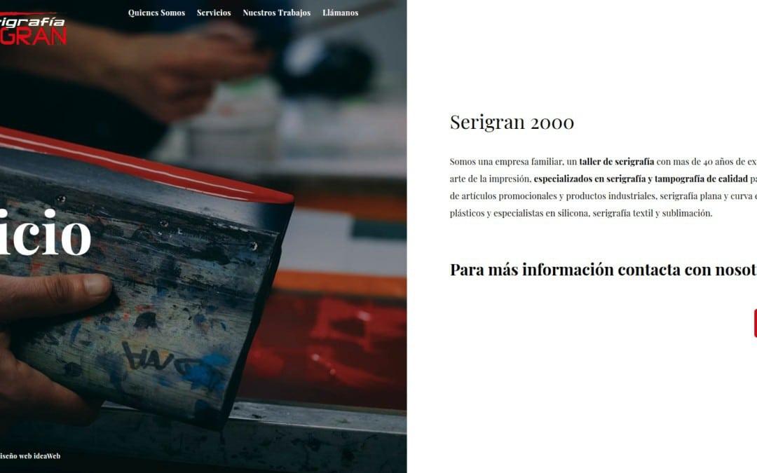 Diseño de página web corporativa para imprenta Artes Gráficas en Madrid