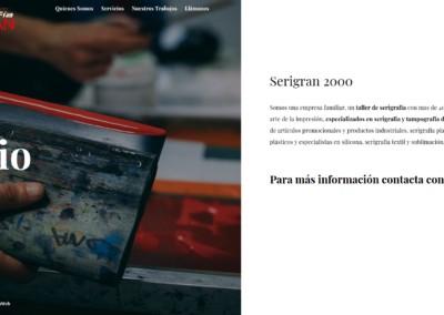 pagina Web taller serigrafia madrid 400x284 1 Diseño paginas web