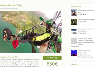 pagina saltos acrobacia parapente Diseño paginas web