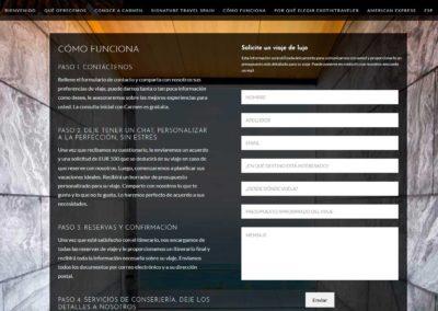pagina solicita viaje lujo espana