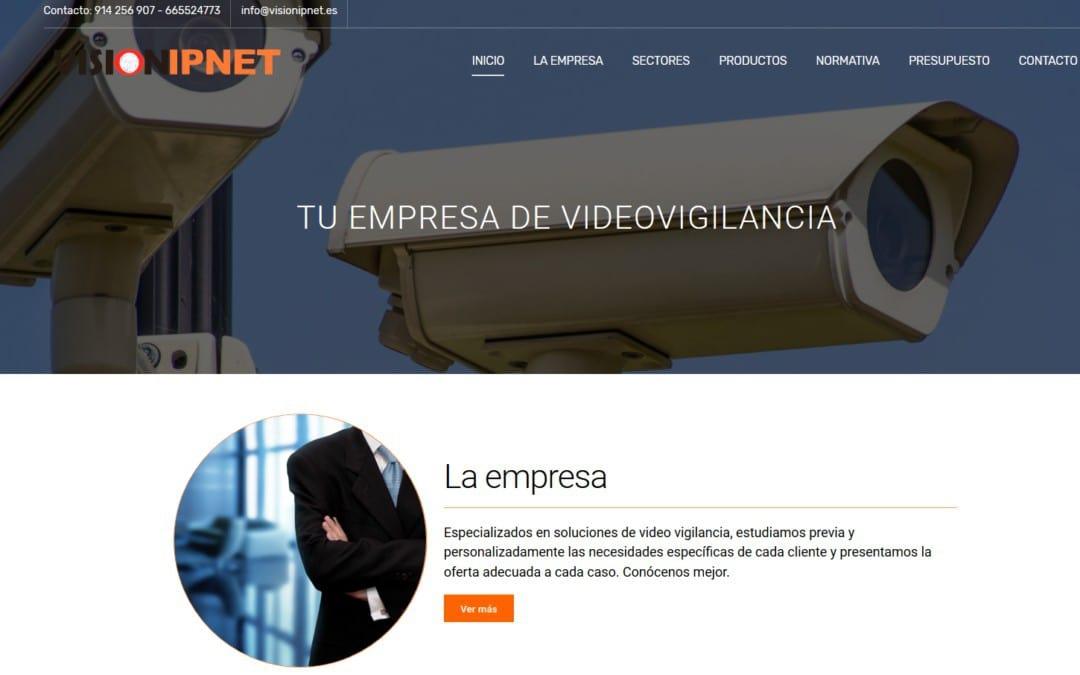 Nuevo diseño web para empresa madrileña sector videovigilancia y seguridad pasiva
