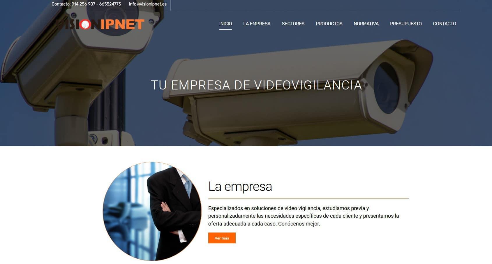 pagina web camaras videovigilancia Diseño paginas web