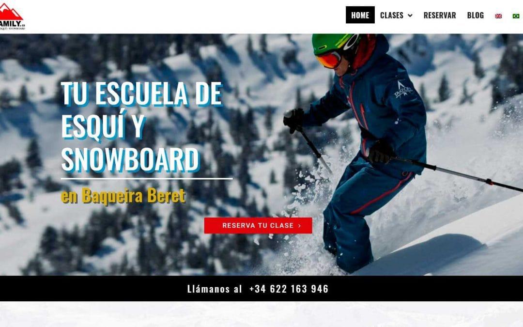 Diseño pagina web para escuela de  esquí y snowboard