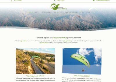 pagina web cursos paramotor parapente Diseño paginas web