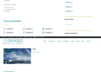pagina web cursos actividades online Diseño paginas web