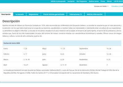 pagina web cursos italiano Diseño paginas web
