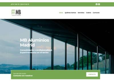 Pagina Web Empresa Aluminios Madrid