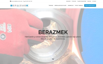 Diseño de página web para empresa fabricante de herramientas industriales