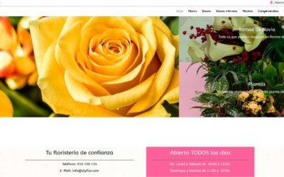 Diseño de tienda online, nueva pagina web para floristería en Madrid