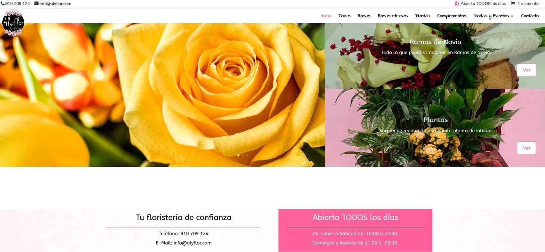 Pagina Web Floristeria Torrejon Madrid
