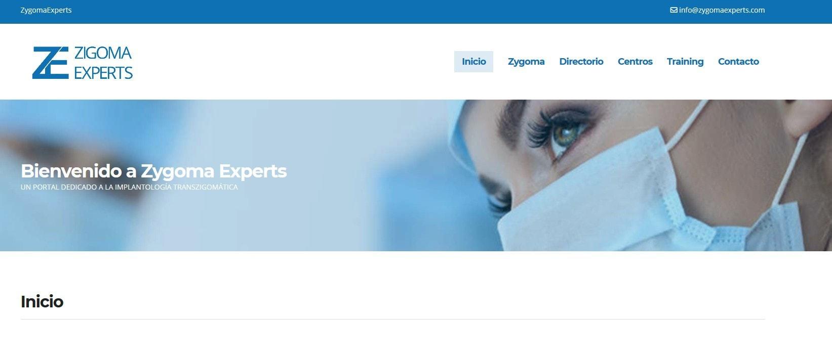 pagina web implantes zigomaticos Diseño paginas web