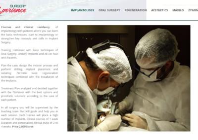 pagina web implantologia implantology training Diseño paginas web