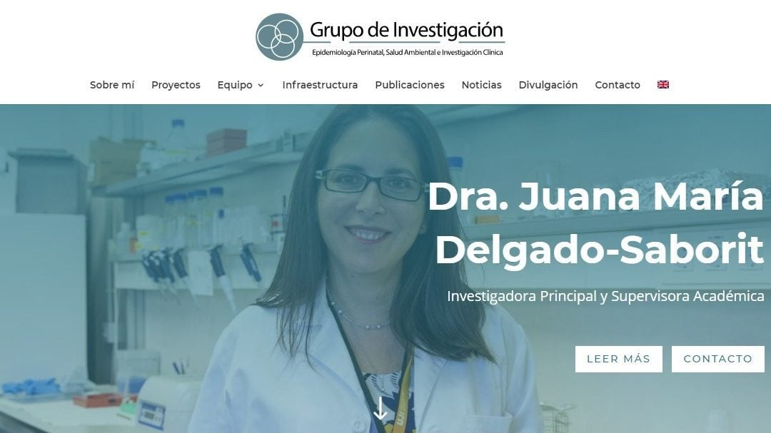 Diseño web para grupo investigación universitario