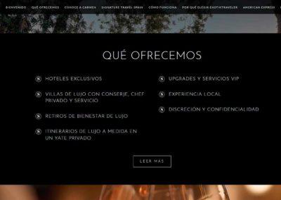 pagina web ofrecemos viajes lujo Diseño paginas web