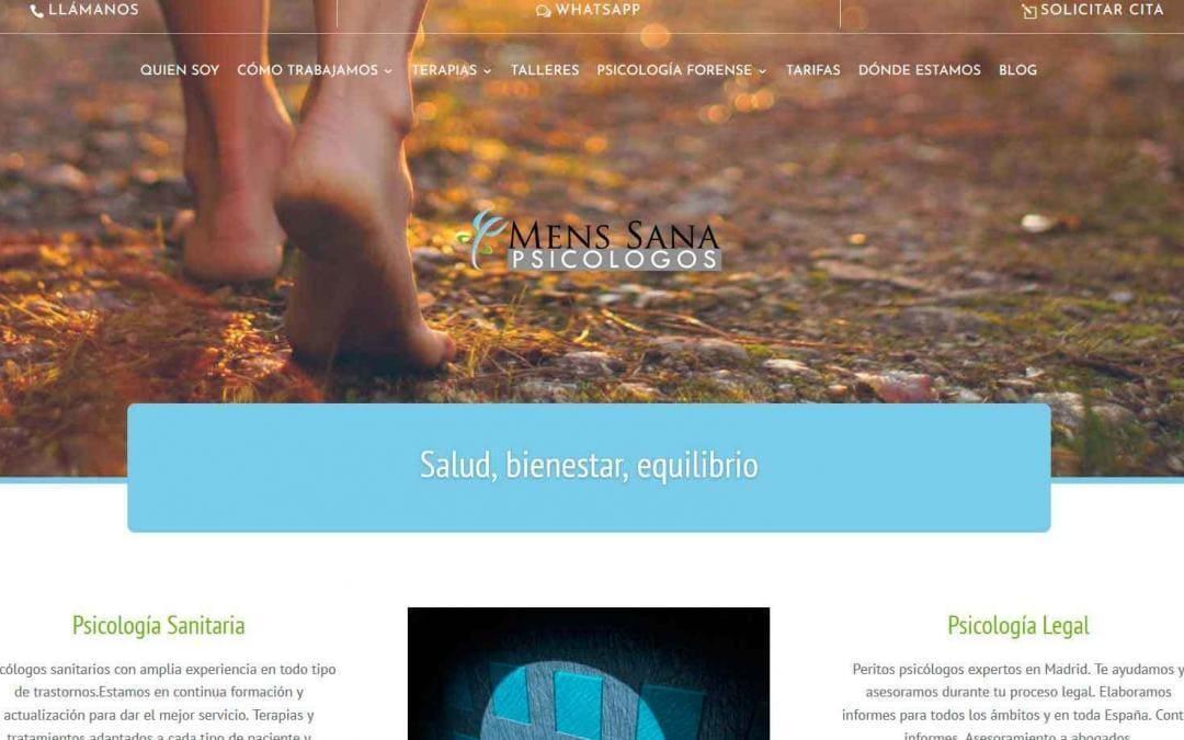 Pagina web para psicólogos en Madrid