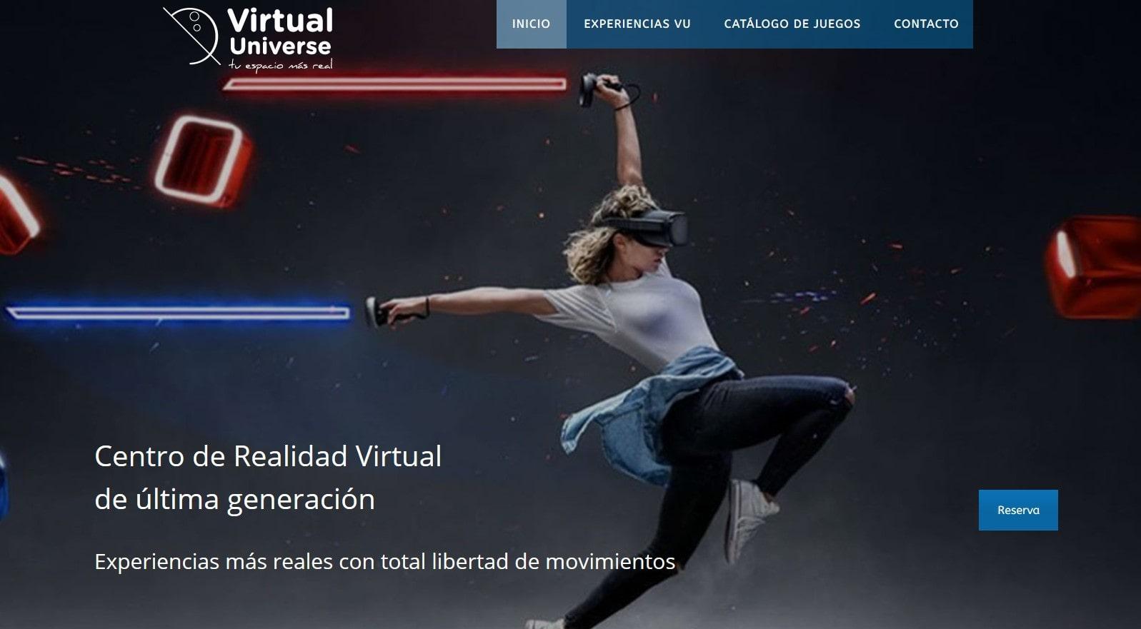 pagina web realidad virtual Diseño paginas web