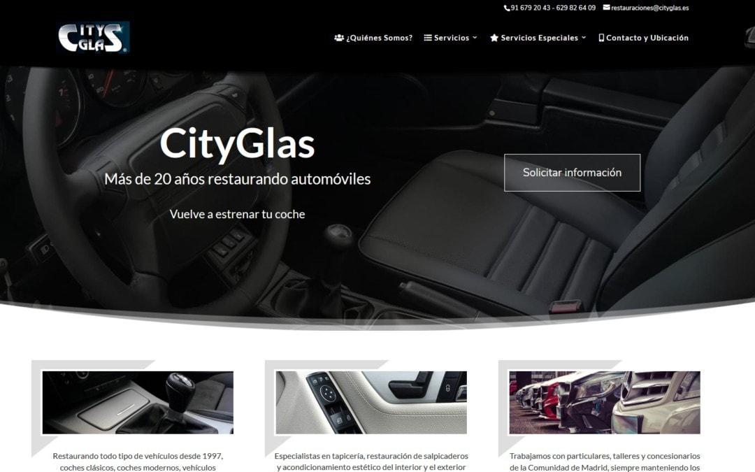 Diseño web para empresa de reparación y restauración de vehículos