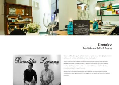 pagina web restaurante madrid 1 Diseño paginas web