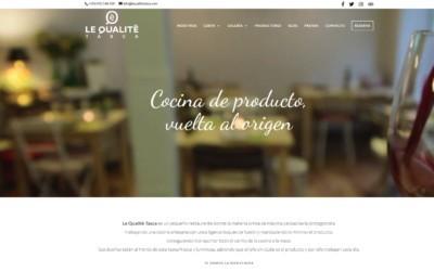 Diseño de pagina web para restaurante en Madrid. Paginas web para restauración y hostelería.