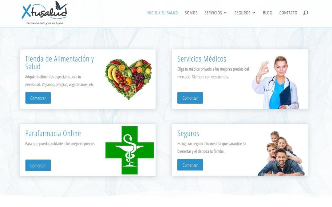 Diseño de página web para sector salud, alimentación y seguros