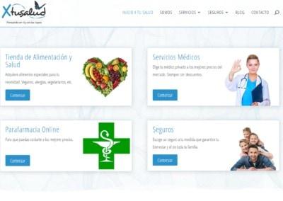 Pagina Web Salud Seguros Alimentacion Servicios Diseno