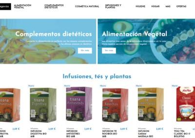 pagina web tienda alimentacion