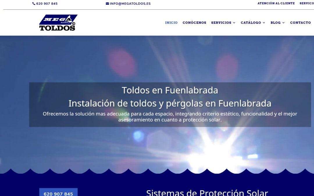Diseño web para empresa de instalación de Toldos y Pérgolas