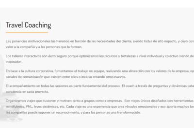 pagina web travel coaching