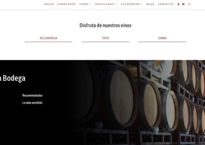 Pagina Web Vinos Licores Bodega