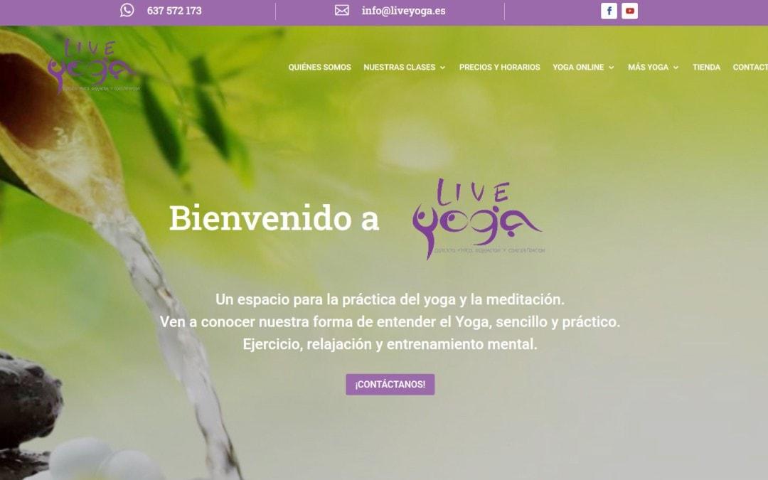 Página web para Centro de Yoga y Meditación