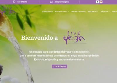 pagina web yoga meditacion Diseño paginas web