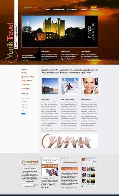 pagina web viajes