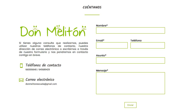 diseño de la pagina web