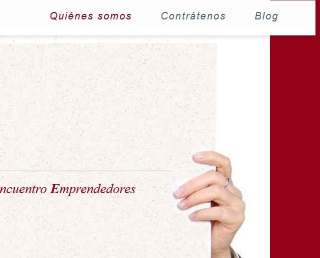 Diseño de página web para asesoría de emprendedores y empresas en Madrid