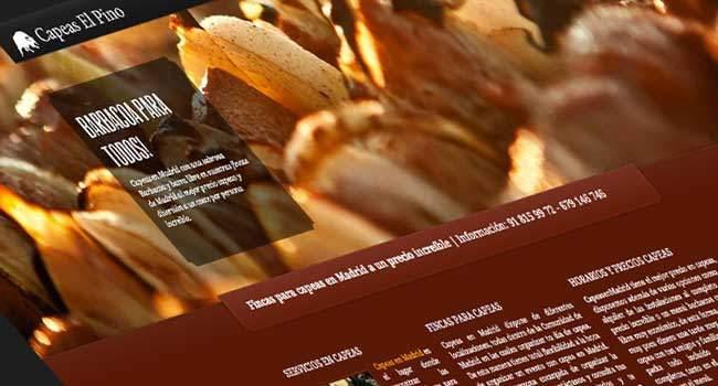 Diseño de página web para empresa de organización eventos y festejos