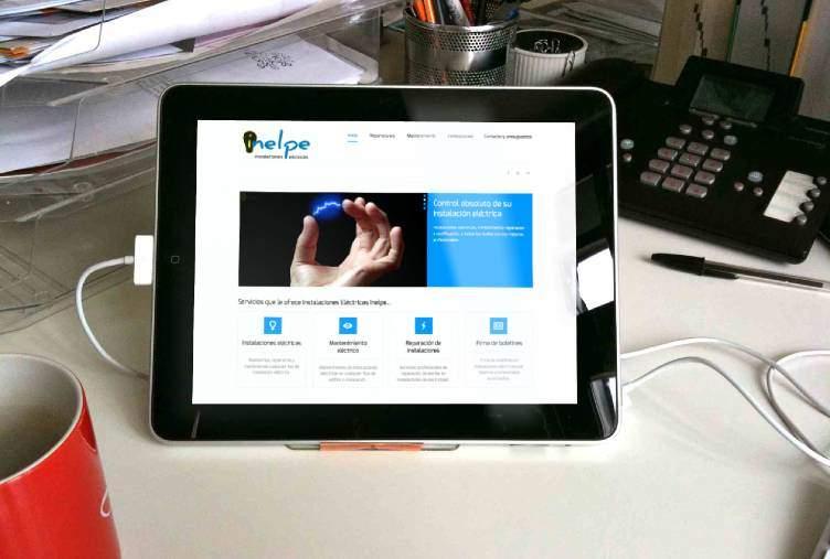 Rediseño de página web para electricistas instaladores en Madrid
