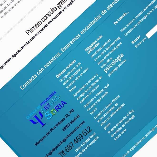 Diseño de página web para gabinete de psicología en Madrid
